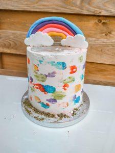 Tort urodzinowy dla dziewczynki tecza - wykonay w Bochni , dostraczamy w Bochni
